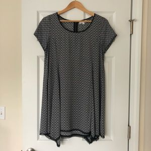 Socialite Asymmetrical Patterned Dress